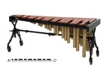 Adams Concert MCPV43 marimba, 4 1/3 oct. A2-C7, padouk 67-40 mm
