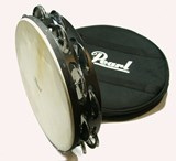 Pearl PETM-20  ELITE CONCERT TAMBOURINE (DOUBLE ROW  HEADED) W/ CASE