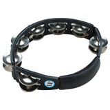 LP 150 Cyclops Tambourine Steel Jingles, Black, Hand Held