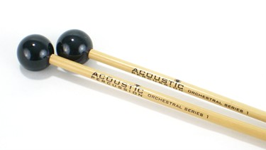 Acoustic Percussion OS1 Orchestral Series Hard glockenspiel mallets on rattan (p