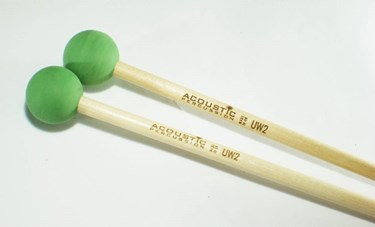 Acoustic Percussion Unwound Series UW2 medium-bright rubber mallet  Birch (pr)