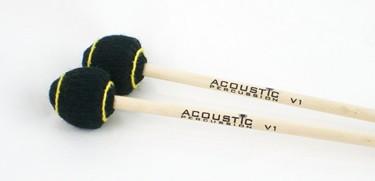 Acoustic Percussion V1 very hard vibraphone mallets on Birch (pr)