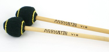 Acoustic Percussion V1R very hard vibraphone mallets on Rattan (pr)