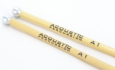 Acoustic Percussion A1 small 12mm Aluminium glockenspiel mallets on Rattan  (pr)