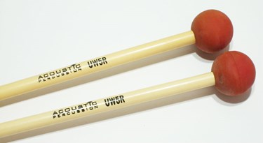 Acoustic  UW5R Unwound Series  Extra soft rubber mallet (Red)  - rattan handles
