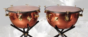 "Adams Adams Baroque timpani (Kalfo head) 23""and 26"" with tripod stand"