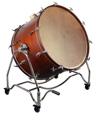 """Adams Concert Bass Drum 36""""x 22"""" incl. Vintage Tilting stand and cymbal holder"""