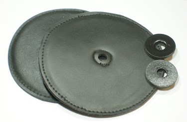 Chalklin Deluxe Leather cymbal pads (black pair)