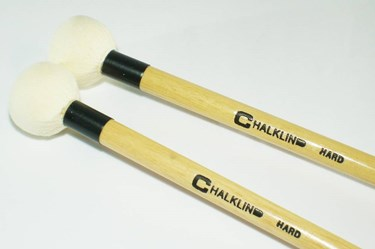 Chalklin BCW Hard Chamois leather timpani sticks with wood core (pair)
