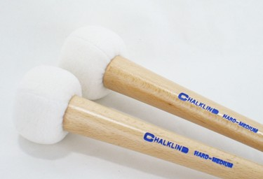Chalklin  BDAT2  'Articulate' Hard-medium Bass Drum mallets (pair)