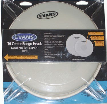"""Evans 7"""" & 8.5"""" tri-centre synthetic Bongo head Combo pack"""
