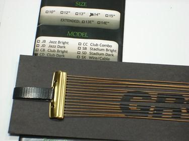 """Grover 13"""" Club Dark snare wire"""
