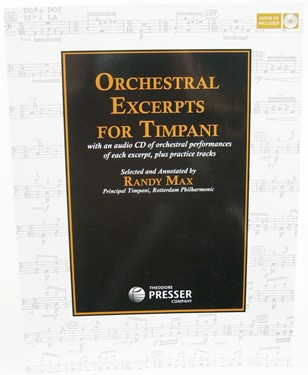 Randy Max Orchestral Excerpts for Timpani- Book with audio CD