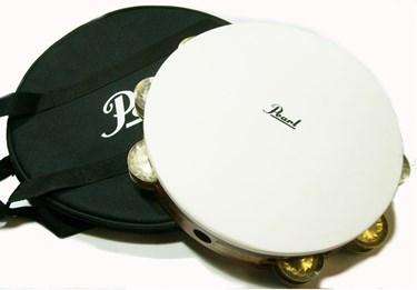 Pearl PETM-1018GS  Professional  Tambourine, GERMAN SILVER JINGLES, W/BAG
