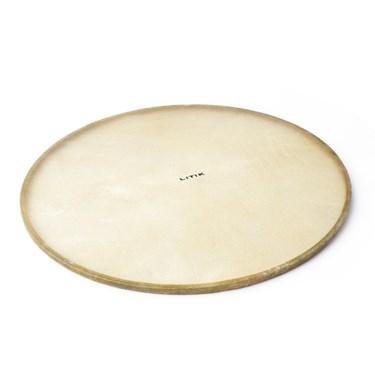 "Litik Calf skin Pre-Tucked 28-36"" Orchestral Bass drum head on Standard Hoop"