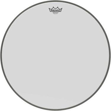 "Remo 20"" Ambassador Smooth White Bass Drum head"