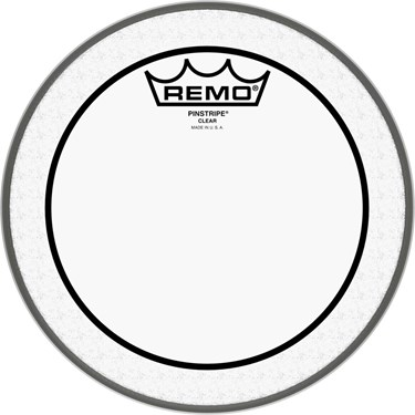 "Remo 08"" PINSTRIPE CLEAR tom head"