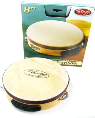 "Stagg 8"" Pretuned Tamb. Wood,1-Rw"