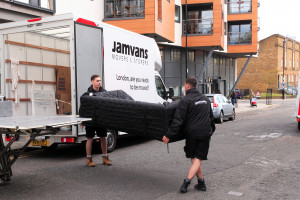 Removal of furniture from the van to property