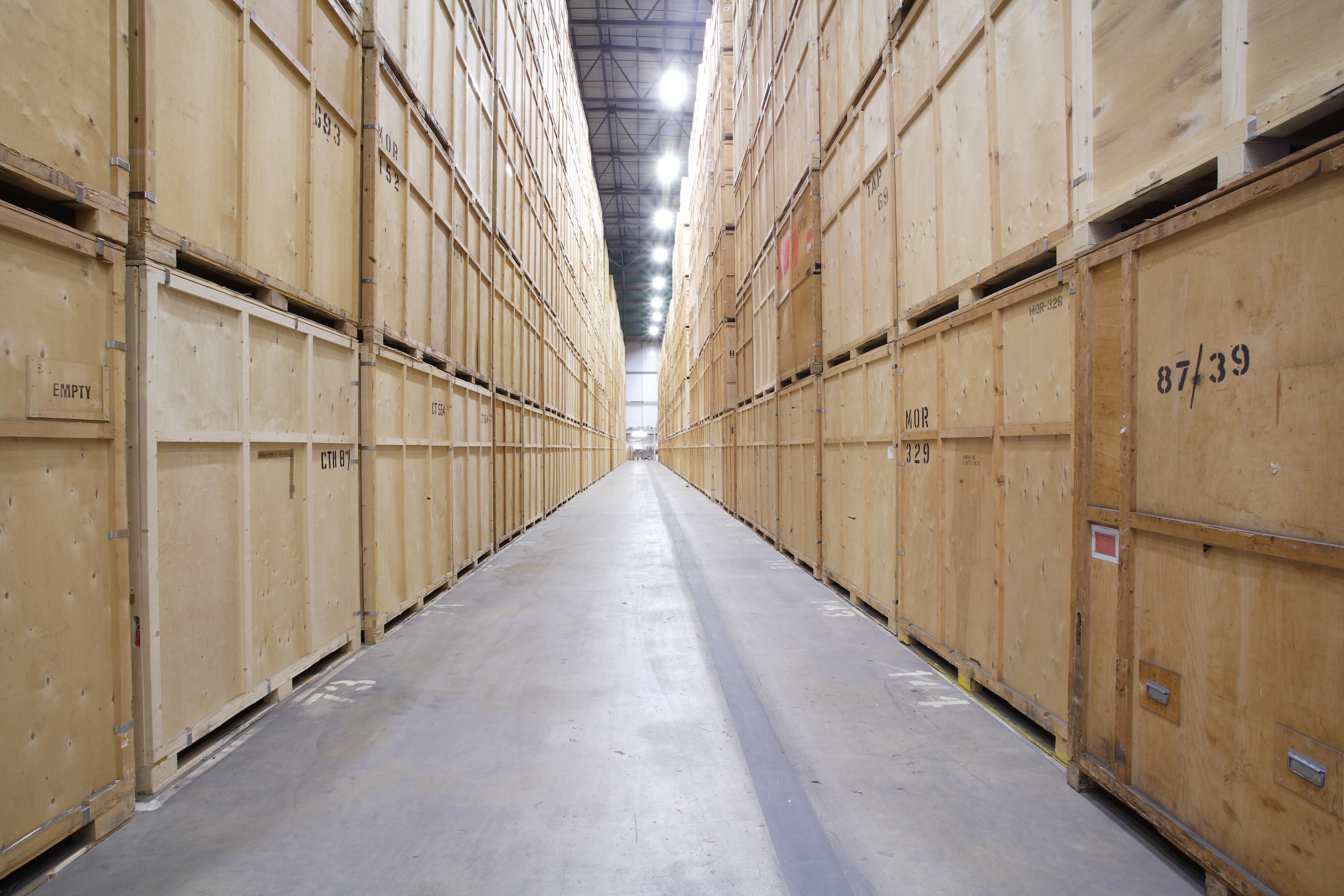 Inside JamVans storage facility