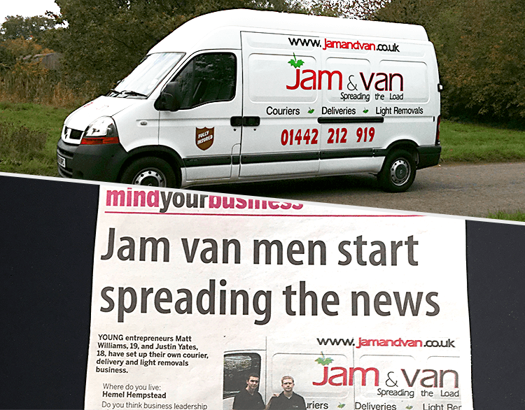JamVans 2010 Newspaper and Van