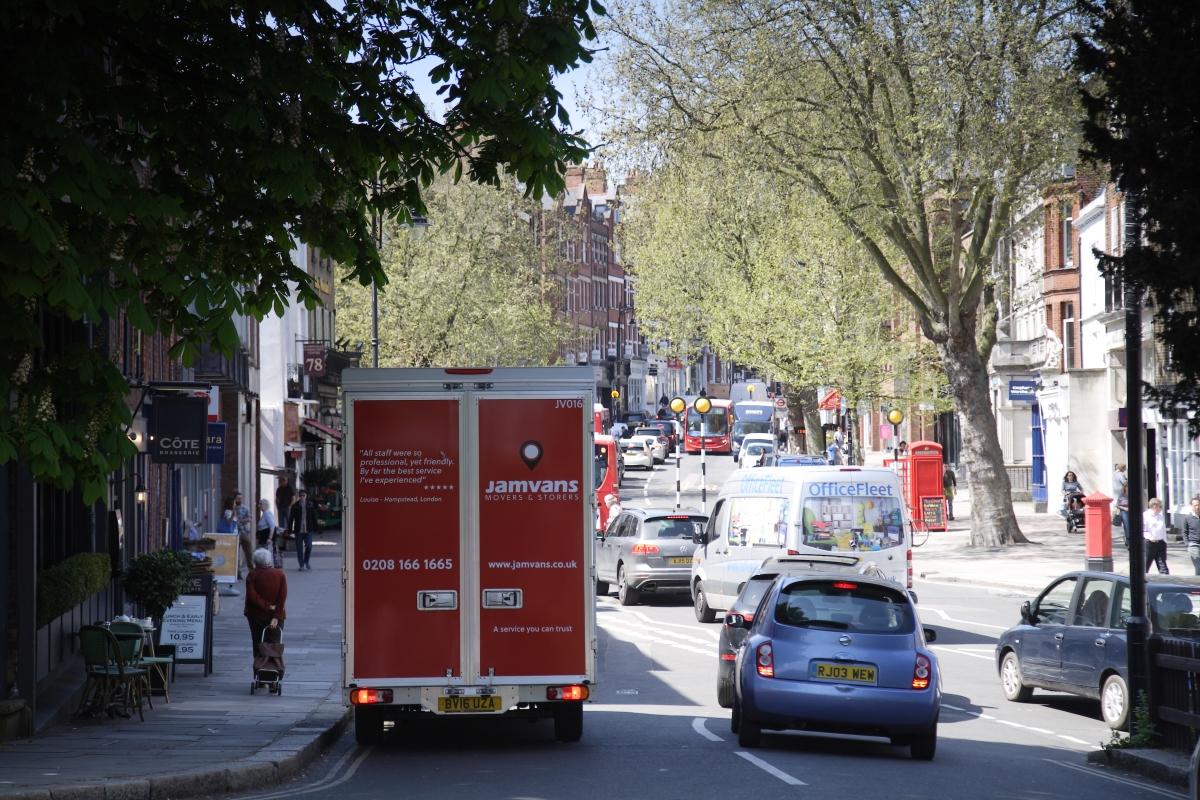 JamVans removal van North London