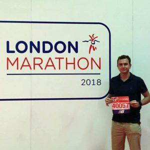 London Removals company running marathon