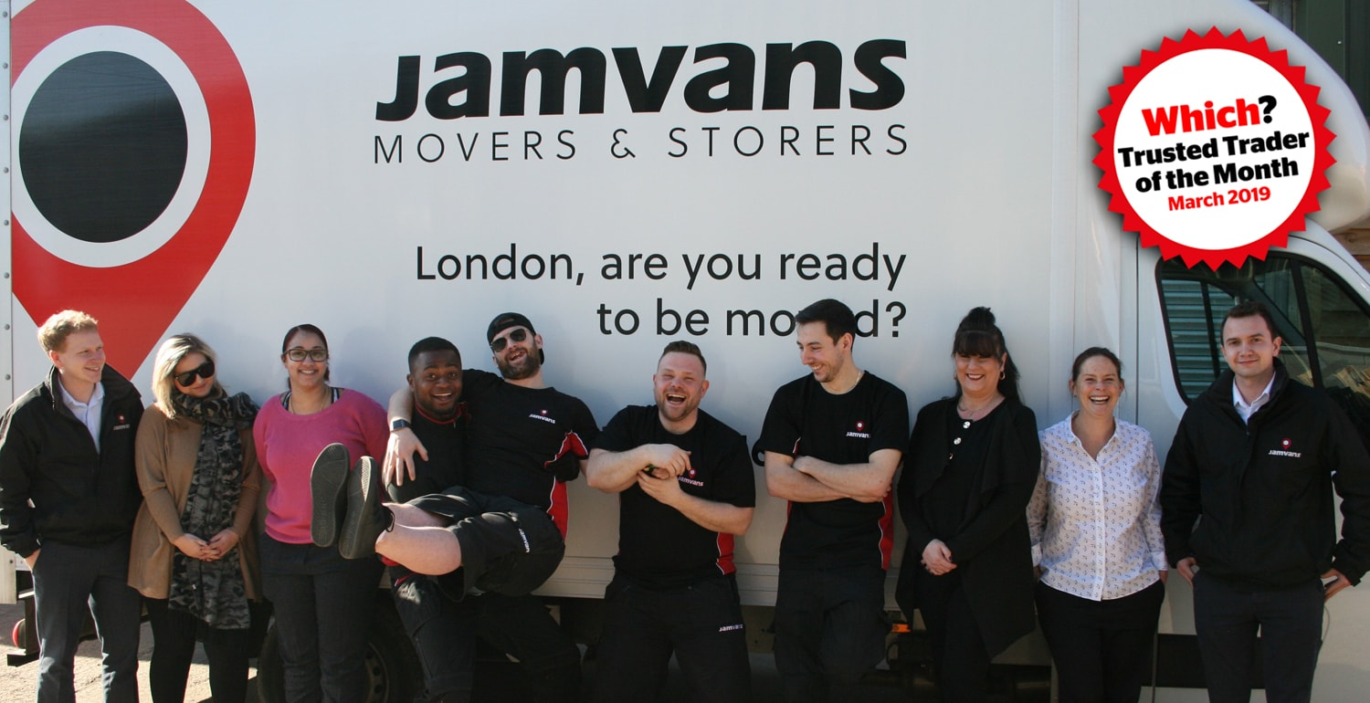 JamVans are the Which Trusted Trader of the Month for March 2019