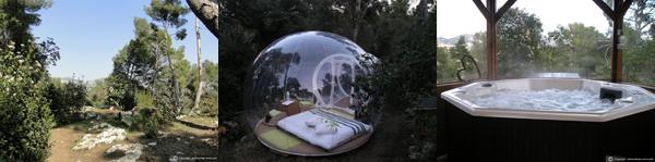 nuit en amoureux dans une bulle attrap 39 r ves marseille. Black Bedroom Furniture Sets. Home Design Ideas