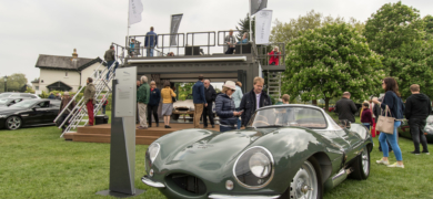 Jaguar Xkss In Front Of The Jaguar Classic Stand Chris Gage