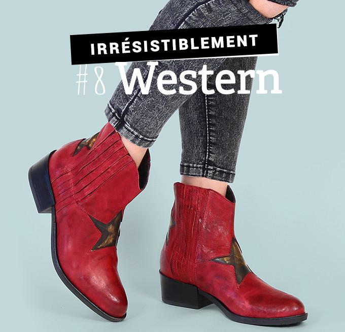 Irrésistiblement western : boots Morena Gabbrielli Oyster rouge brique