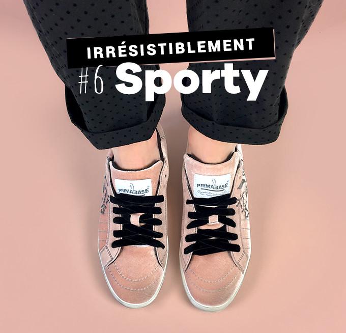 Irrésistiblement sporty : baskets Primabase rose et gris