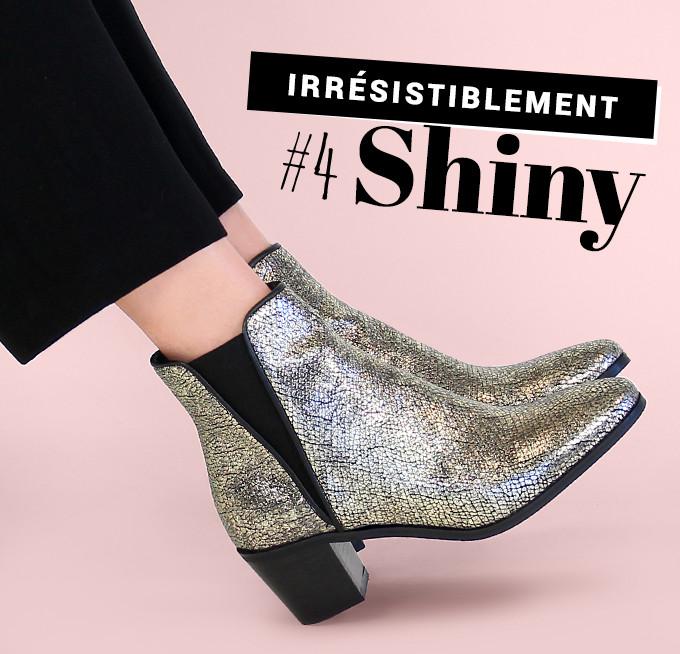 Irrésistiblement shiny : boots Reqins Kamino Reno gris métal