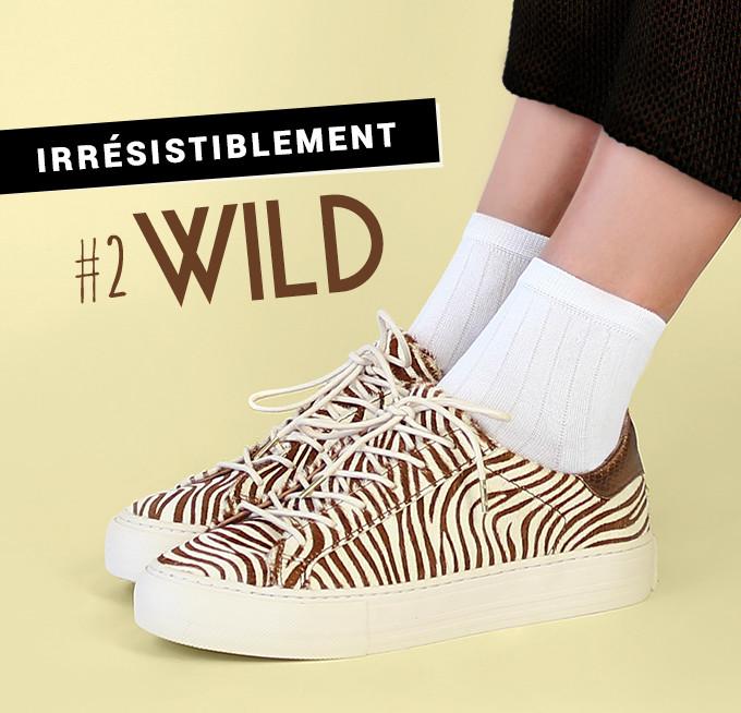Irrésistiblement wild : baskets No Name Arcade Sneaker Pony Zebra