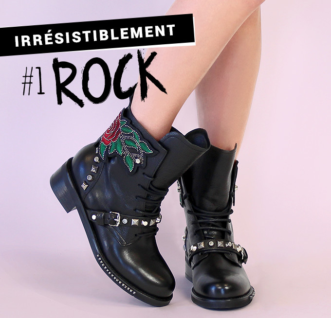 Irrésistiblement rock : bottines Mimmu avec Bride