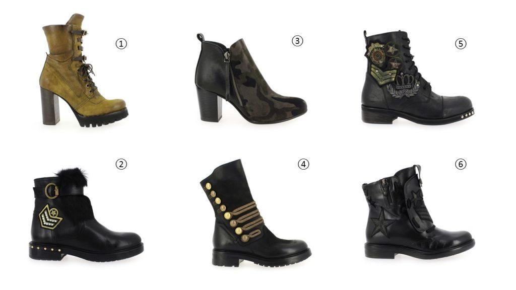 sélection de chaussures militaires