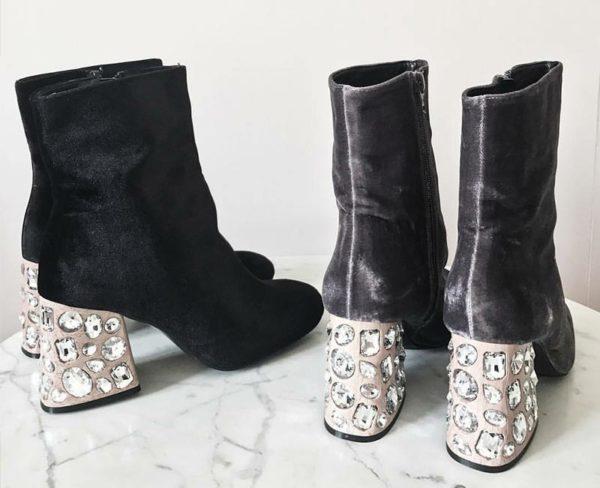 """Boots satinées & talon """"glitter"""" Elysèss"""