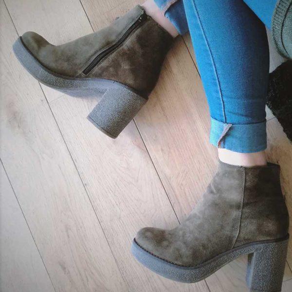 "Boots en cuir ""BIBIANA"" de Progetto EN SOLDES"