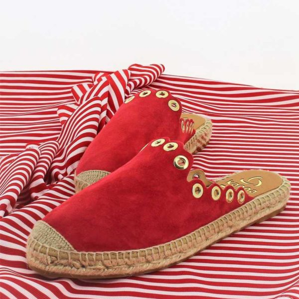Mules Kanna rouge passion