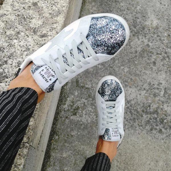 Metallic is the new chic ☆ Baskets glitter de la marque italienne Méliné