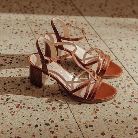 Cérémonie : sandales en cuir Janie Philip