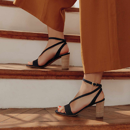 Cérémonie : sandales en cuir COR by Andy