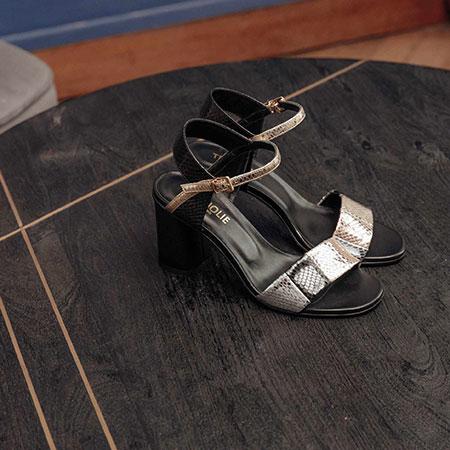 Cérémonie : sandales en cuir Très Jolie