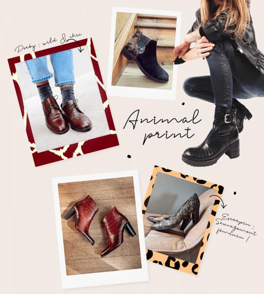 chaussures imprimé animal