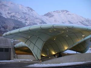 Architect Zaha Hadid station Innsbruck