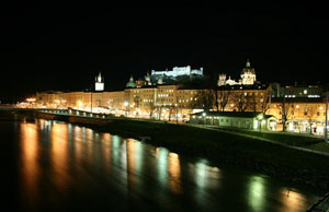 Salzach river and Castle