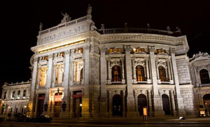 The Burgtheater at night