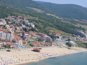 Sunny Beach, view from Glider