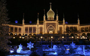 Castel in Tivoli at Christmas time