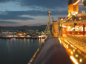 Marmaris at night - from cruise ship